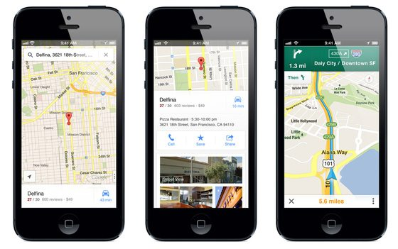 apple returns to google maps