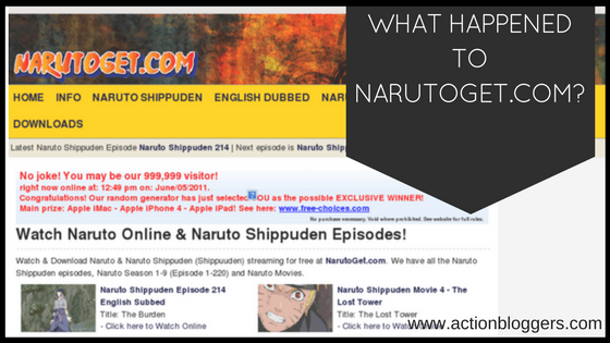 What happened to NARUTOGET.COM Why is it not working
